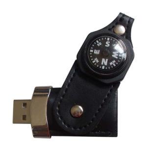 Компас эксклюзивный кожаный USB флэш-памяти логотип