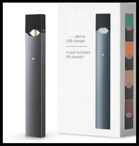 Système Pod vaporisateur E cigarette Starter Kit Juul Pod Vape stylo plume plat Mod fumer automatique Pas de fuite
