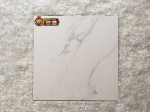 600*600 marmeren Witte Volakas poetste Verglaasde Tegel B6053 op