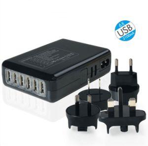 Caricatore universale di vendita caldo di corsa del USB del telefono mobile con 6 porte del USB