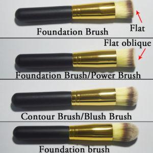 Caso 8PCS dell'insieme di spazzola di marca del kit dell'articolo da toeletta dell'insieme di spazzola di trucco