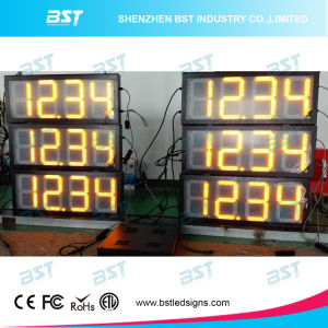 時間またはクロック表示およびメッセージの印が付いているガス代LEDの印
