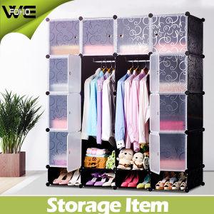 Portable simple Armario Mobiliario de dormitorio Tela Gabinete de almacenamiento