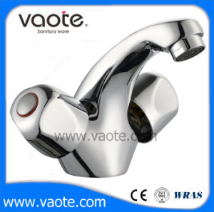 二重ハンドル亜鉛ボディ洗面器のコック(VT61203)