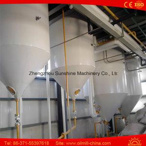 Máquina crua pequena da refinação de óleo da palma do equipamento 3ton da refinaria de petróleo