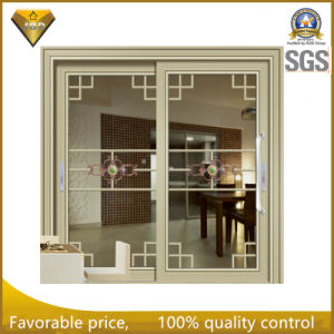 Portello scorrevole di alluminio di vetro di nuovo colore di legno interno 2016