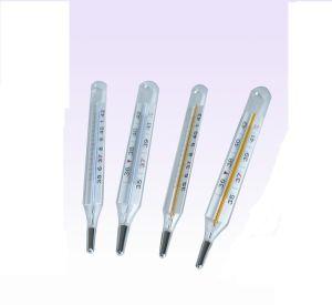 De koortsthermometers van het Vlakke Glas van de oksel met Vrij Kwik