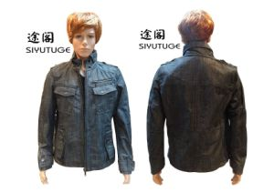 Rivestimento di inverno lavato denim dei jeans di modo degli uomini (SY-1555)