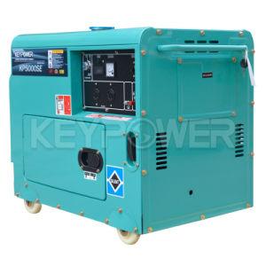 5kVAフライホイールの貸出方式が付いている空気によって冷却される携帯用ディーゼル発電機セット