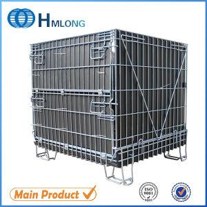 Cage de treillis métallique pliable en acier/récipient de stockage pour rack à palettes