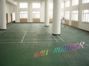 Flexível e piso de borracha de absorção acústica