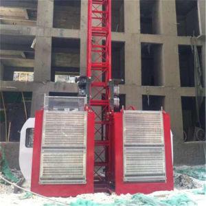 SGS Ce oferta fábrica 2t jaula doble ascensor ascensor elevador