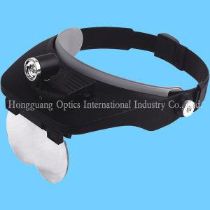 LEDランプ(MG 81001-C)が付いているヘッド拡大鏡