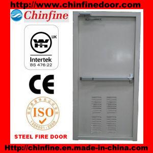 Porte coupe-feu en acier avec la barre de poussée (CF-F001)