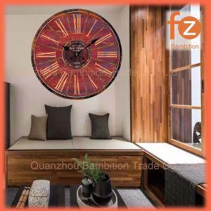 Caliente la venta de varios estilos innovadores comercio al por mayor Reloj de pared Pared Vintage Antiguo reloj redondo de madera para la decoración del hogar016107-87 Fz.