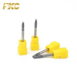 2 Flute HRC45 Bola de carboneto de ponta das lâminas do moinho