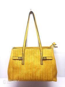 Fashions Sac à bandoulière amovible PU Lady Designer Sacs à main jaune (No. F7447)