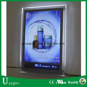 A1-A4 del bastidor de cristal de luz LED Publicidad slim Box