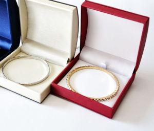Contenitore di regalo pendant dell'imballaggio del braccialetto del braccialetto del velluto dei monili di memoria dell'anello di cuoio della casella (Ys331)