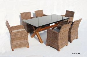柳細工の家具の屋外のレストランの余暇の家具