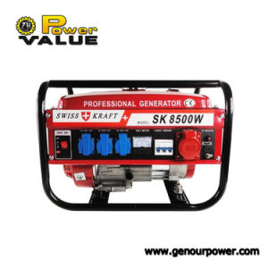 Домашнее Use швейцарский Kraft Gasoline Generator, 8500W Petrol Electric Gasoline Triphase Generator