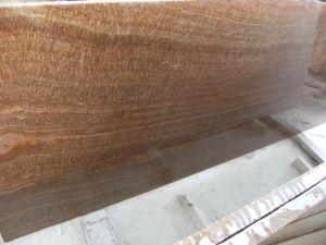Het bruine Houten Marmer van de Ader voor Countertop