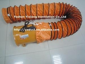 12  ventilazione (di 300) Fan, Air Blower con Spriral Steel Flexible Duct, Flexible Duct Hose