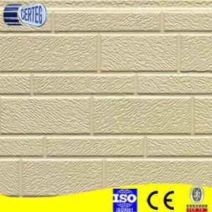 Motif de briques jaunes panneau sandwich polyuréthane pour la construction de murs