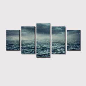 Het zwart-witte Canvas van het Zeegezicht drukt het Decor van de Kunst af