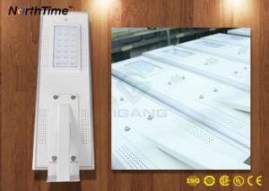 Sensor de movimiento infrarrojo todo-en-uno Calle luz LED con panel solar