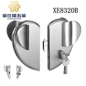 Aleación de zinc de bloqueo de puertas de vidrio cristal de la abrazadera de montaje de parches de bloqueo de palanca XE8320B