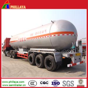 3-Axle 50cbm LPG Gas-Transport-Becken-halb Schlussteil