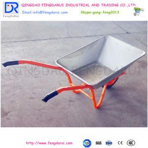 Rodas Pneumáticas populares e 65L Square Wheelbarrow Balde de zinco (WB4211) Carregamento de 120kg