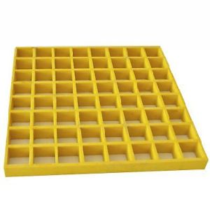Стекловолоконные квадратной решетки, FRP скрип, FRP сетка желтый цвет 10,6''x10.6X1