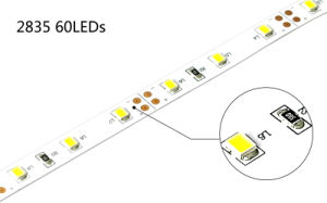 Puede ser Cuttable 60LED SMD2835/M tiras de LED flexible
