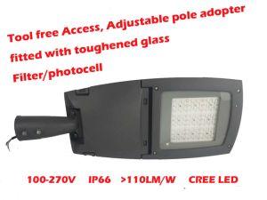 La luz de carretera LED 120W y 180W con poste ajustable adoptante