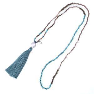 Regalo lungo di qualità superiore delle donne dei pendenti delle nappe delle perle della mano Chain in rilievo d'acqua dolce della collana