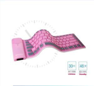 Un buen diseño impermeable plegable Wireless Bluetooth Teclado de silicona suave para el iPad