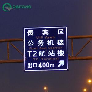 La sicurezza stradale solare chiara del LED ha orientato la scheda del metallo del segnale stradale con il prezzo di fabbrica di rivestimento riflettente