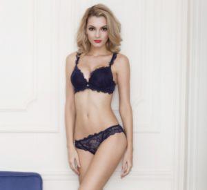 De estilo francés de 2018 Sexy Push up Bra de encaje ropa interior acolchado