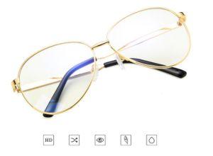 De douane Afgedrukte Optische Frames van de Glazen van het Metaal van de Glazen van de Manier van het Embleem van het Metaal