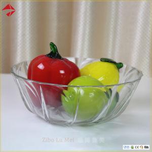 Kom van de Salade van het Glas van de douane de Milieuvriendelijke met de Kom van het Suikergoed van het Glas van de Plaat