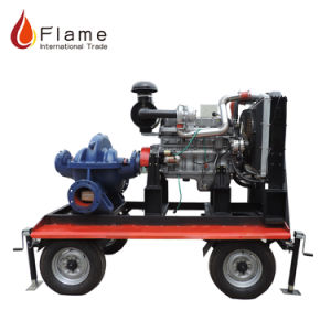 Type de pompe à eau Mobile remorque agricole pompes diesel