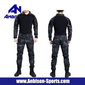 Uniforme de combate táctico prensa sem joelhos e cotovelos versão das pás adesivas