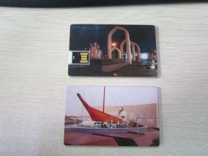 Прозрачный бизнес по производству полупроводниковых пластин карты памяти USB Flash накопитель с наклейкой