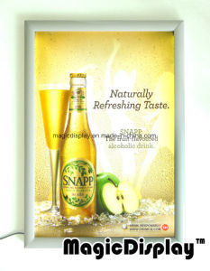 Anuncios Snap Frame Slim LED Light Box titular Poster cartel de la cerveza