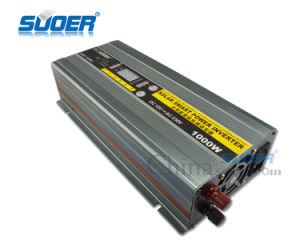 Pantalla LED Suoer 1000W 12V DC Inversor de potencia con el cargador (HBA-1000C)