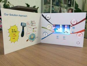 Scheda della pubblicità del vino video con lo schermo dell'affissione a cristalli liquidi 4.3inch