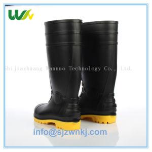 安い高品質の人の鋼鉄つま先の挿入プラスチック安全働く雨靴