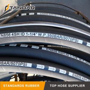 Hochdruckspirale verstärkter hydraulischer Gummischlauch 4sh mit Befestigung